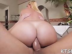 Tgirl enjoys cock in her booty