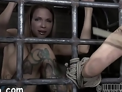 Enchanting babe gets lusty torture