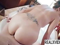 Bath Sex Session With Stunning Brunette Alana Cruise - www.realxvideo.com