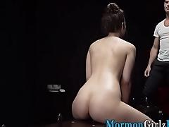 Pussy slammed mormon cum