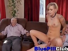 Hard Bodied Teen Sucks Old Dudes Cocks