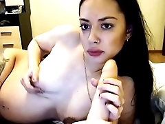 Sexy pregnant smoking and blowjob