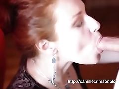 Camille Crimson (Chloe Morgane) - Giving you an Amazing Sensual Blowjob