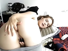 Teen live show big ass anal added to making her pants soak with squirt