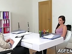 Female agent likes sex games a lot