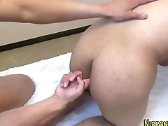 Fucked asian twink tugs