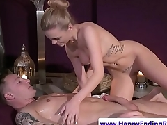 Euro babe pussyfucked look into nuru massage