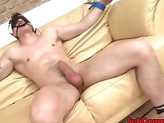 BDSM femdom babe toys subs ass with dildo