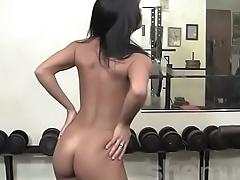 Teen Vita'_s posing nude near the gym, try to bulk involving