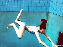 Blue Bikini tight pussy Martina underwater