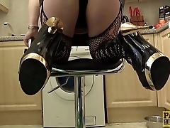 British subslut Sexy Cleo anally punished by horny dom