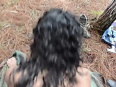 Sex-crazed Latina guerrillas having their way with captured male