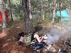 Latina pussy-eating minus in Jungle insurgent camp