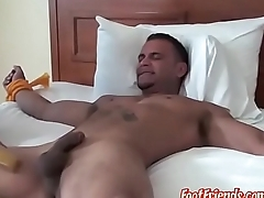 Muscular hunk Jose is doomed to the bed and tickled hard