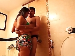 Husband Get hitched Romance in Bathroom Hot short film