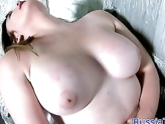 Amateur babe strokes her dong in solo scene