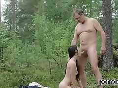 Lovesome college girl gets seduced and nailed by her older teacher