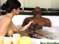 Masseuse fucks outrageous guy