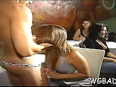 Sexual joy with stripper