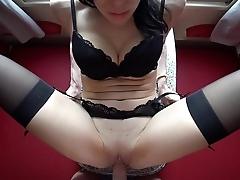 Hot College Slut Fucks And Sucks A Stranger'_s Big Dick In Train