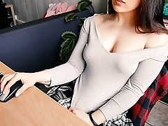 STUDENT FINGERING - Hot schoolgirl watches porn after class