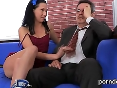 Innocent schoolgirl is teased with the addition of fucked by her aged teacher