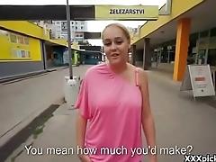 Public Pickup Girl Seduces Tourist For Cash 32