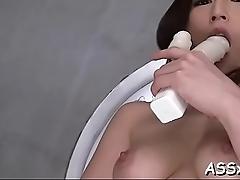 Oriental vagina shaving and wild anal