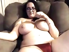 Hot girl topless chatting after cum twice