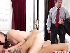 nickey huntsman Cheating slut gets double penetrated
