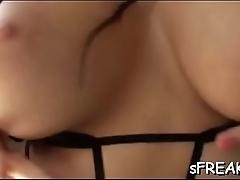 Pornstar handles a giant  toy
