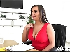Lustful doxy jerks off and rides