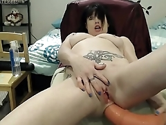 nastygf.tk - belly buldge with horse cock
