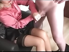 Best Mom Wanking off Dad Over Her Stockings. See pt2 at goddessheelsonline.co.uk