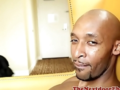 Ebony stud wanking his big black cock