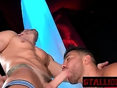Amazing stud in a very nice gay fucking