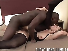 I will asphyxiate on his big black cock in front of you