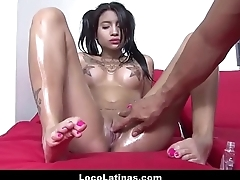 Tiny Latina Spanish Teen With Nice Tits Together with Tattoos Fucked