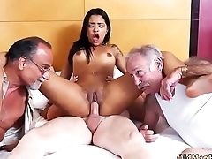 Young and old hardcore Staycation nearby a Latin Hottie