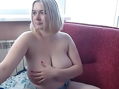 Wow this girl got super nice big boobs