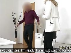 Czech babe fucks on casting for job