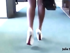 Best Belgian Mom Flashing Heels and Buttplug. See pt2 at goddessheelsonline.