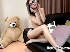 Skinny teen stripping at TryLiveCam.com