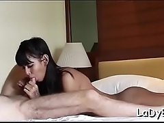 Stiff knob for a tranny'_s anal