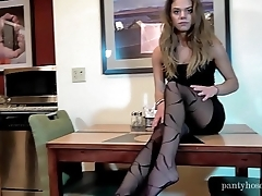 Date Night Pantyhose Foot Tease