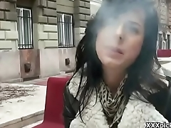 Public Sex With Euro Teen And Horny Tourist Outdoor 11