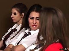 Schoolgirls in CFNM Porn Femdom