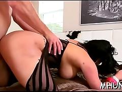 Massive jock bangs sexy milf