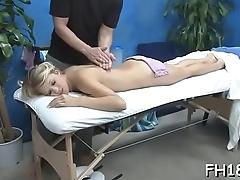 Gal is sucking penis
