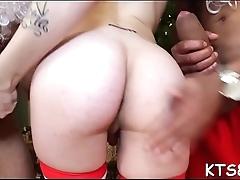 Fancy shelady in a wild anal act